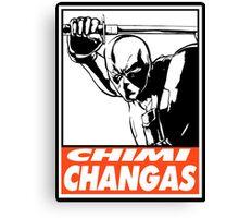 Deadpool Chimichangas Obey Design Canvas Print