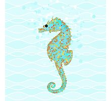 Stanley Seahorse riding the ocean waves Photographic Print