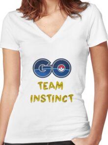GO Team Instinct - Pokemon Go Women's Fitted V-Neck T-Shirt