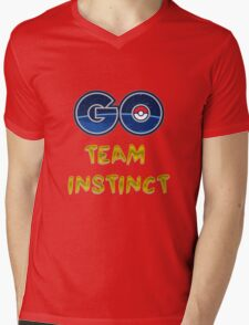 GO Team Instinct - Pokemon Go Mens V-Neck T-Shirt