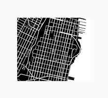 Hoboken Map - Black Unisex T-Shirt