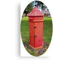 Halls Cottage Postbox Canvas Print