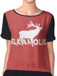 Elkaholic Deer Chiffon Top