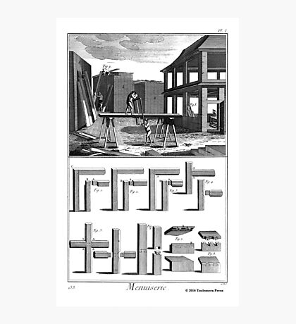 18th Century Diderot Print - Menuserie - Carpentry - Sawyer Photographic Print