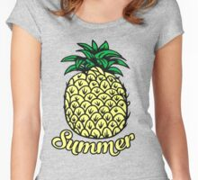 summer pineapple Women's Fitted Scoop T-Shirt
