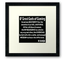 Great Gods of Gaming Framed Print