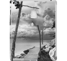 Empty wooden pier on tropical island iPad Case/Skin