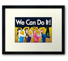 We Can Do It! Framed Print