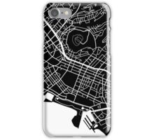 Honolulu Map - Black iPhone Case/Skin