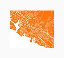 Honolulu Map - Orange Unisex T-Shirt