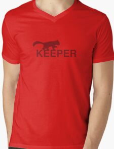 Red Panda Keeper Mens V-Neck T-Shirt