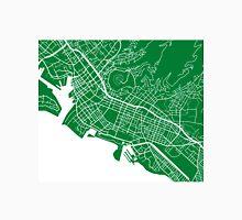Honolulu Map - Green Unisex T-Shirt