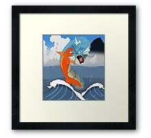 Pokemon Koi Dragon (Gyarados & Magikarp) Framed Print