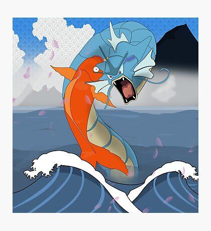 Pokemon Koi Dragon (Gyarados & Magikarp) Photographic Print