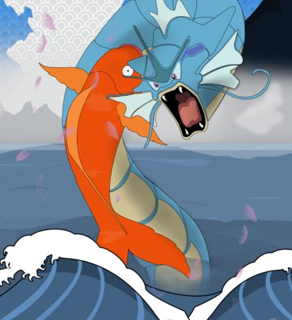 Pokemon Koi Dragon (Gyarados & Magikarp) Sticker