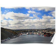 St. John's Newfoundland town and harbor   NL Poster