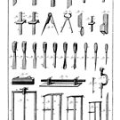 18th Century Diderot Plate - Menuserie - Carpentry - Chisels & Saws by toolemera