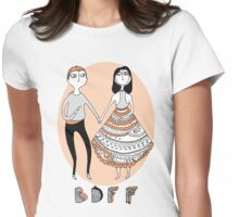 Best Dead Friends Forever Womens Fitted T-Shirt