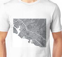 Honolulu Map - Grey Unisex T-Shirt