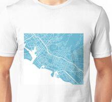 Honolulu Map - Baby Blue Unisex T-Shirt