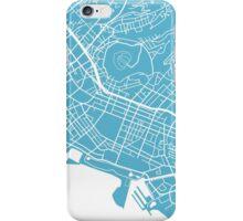 Honolulu Map - Baby Blue iPhone Case/Skin