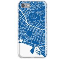 Honolulu Map - Deep Blue iPhone Case/Skin