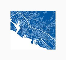 Honolulu Map - Deep Blue Unisex T-Shirt