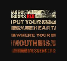 August Burn Red T-shirt - put your heart T-shirt  Unisex T-Shirt
