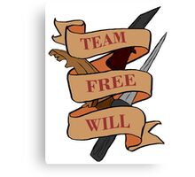 Team Free Will (no blood) Canvas Print
