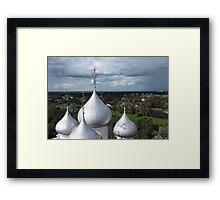 dome of St. Sophia Cathedral in Vologda Framed Print