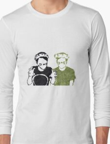 Dan and Phil Glitter Faces Portraits Long Sleeve T-Shirt
