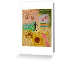 Basquiat Painting Greeting Card