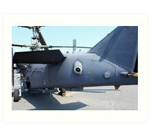 Attack helicopter rear view Art Print
