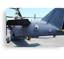 Attack helicopter rear view Canvas Print