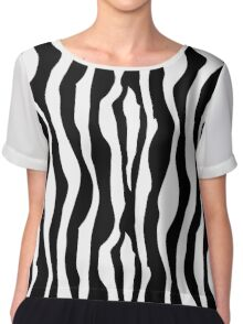 Black And White Zebra Stripes Pattern Chiffon Top