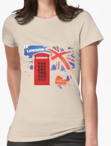 London Telephone Womens Fitted T-Shirt