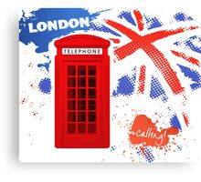 London Telephone B Canvas Print