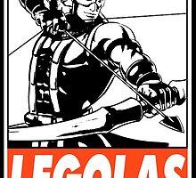Hawkeye Legolas Obey Design by SquallAndSeifer