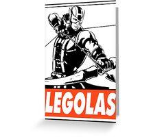 Hawkeye Legolas Obey Design Greeting Card