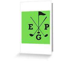 Golf - East Peak Apparel - Golf Flag and Clubs Print Greeting Card
