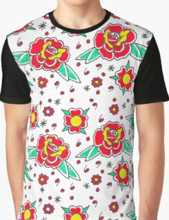 Rose pattern Graphic T-Shirt