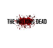 The Walking Dead Bloody Logo Photographic Print