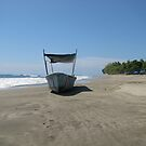 Fishing Boat at the Beach in Costa Rica by aura2000