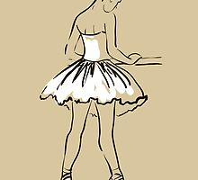 sketch of girl's ballerina  by OlgaBerlet
