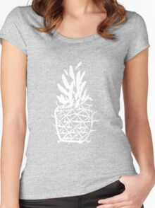 Standing pineapple Women's Fitted Scoop T-Shirt