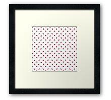 Pokeball Pattern Framed Print