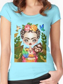 Frida Querida Women's Fitted Scoop T-Shirt