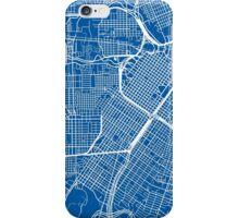 Houston Map - Deep Blue iPhone Case/Skin