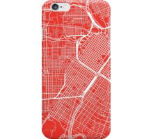 Houston Map - Red iPhone Case/Skin