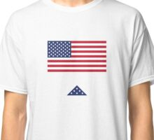 USA Flag with Folded Flag Classic T-Shirt